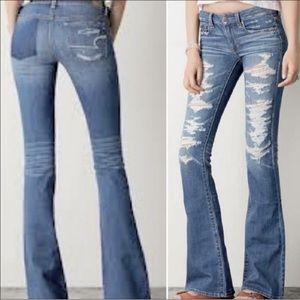 American Eagle Boho Artist Flare Jeans